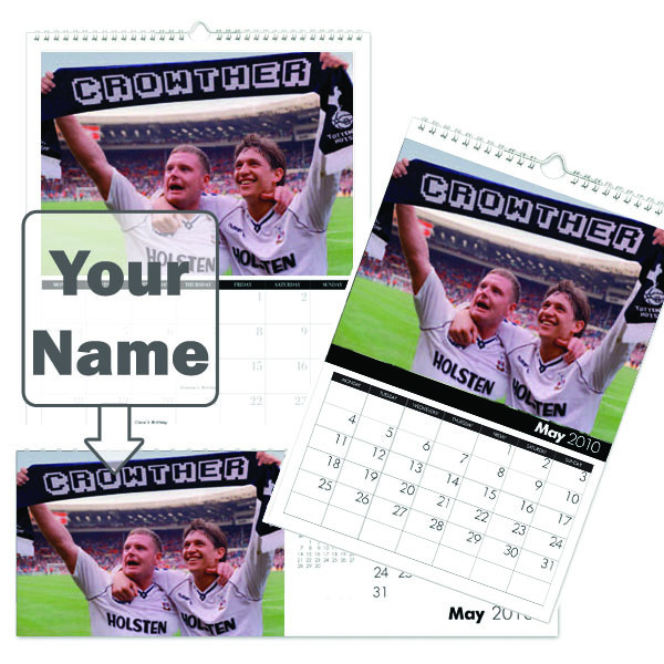 football Legends Personalised Calendar A3
