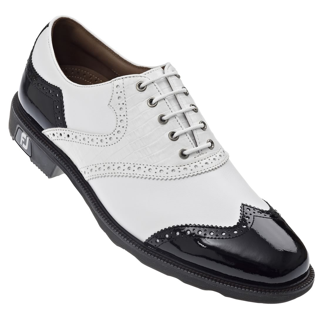 Footjoy Black And White Golf Shoes