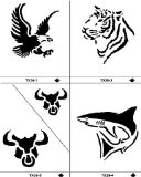 For Now Tattoo Stencil Set - Wild Animals TX-20 product image