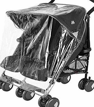 For-your-Little-One Raincover Compatible With Mamas And Papas Kato Twin Double Pushchair (213)