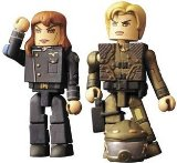 Battlestar Galactica Mini-Mates - Cain and Starbuck