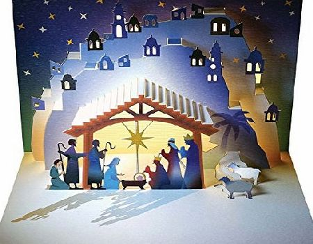 Forever Nativity Shepherds and Kings - Amazing Pop-up Card