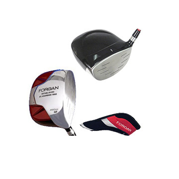 Red SQUARE 460cc Ti Driver + FREE STAND BAG