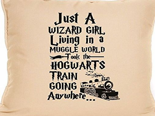 fourleafcloverprint Harry Potter inspired just a wizard girl living in a muggle world great cushion gift idea