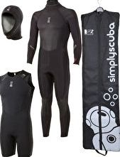 Fourth Element, 1192[^]75298 Mens Proteus 5mm Wetsuit Package
