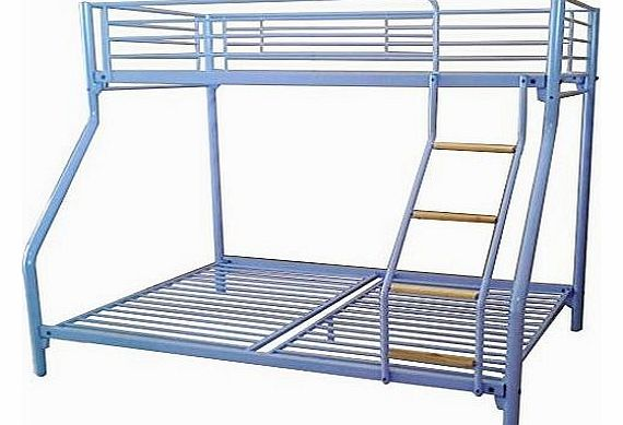 New metal triple children sleeper bunk bed frame in purple no mattress - 100 Foxhunter New White Metal Triple Inflatable