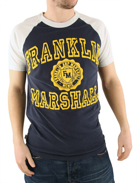 Franklin & Marshall Franklin and Marshall Navy Collegiate T-Shirt product image