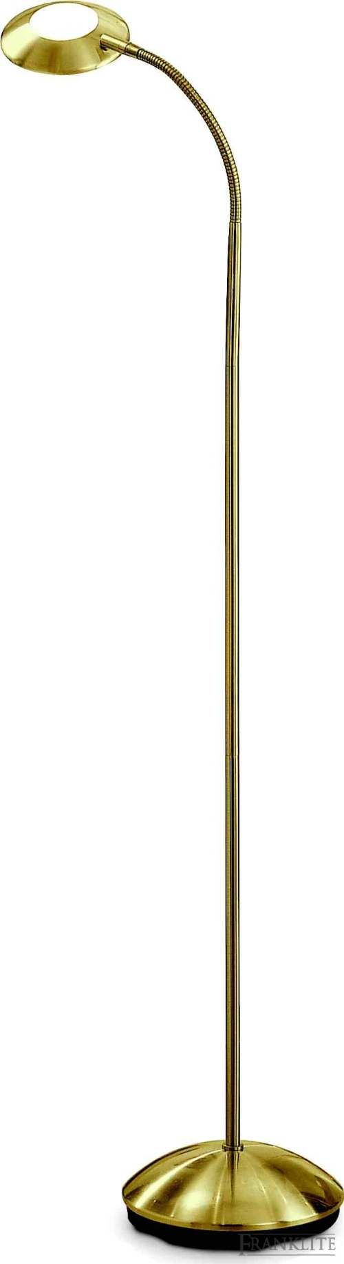 Satin brass finish with flex arm adjustable head