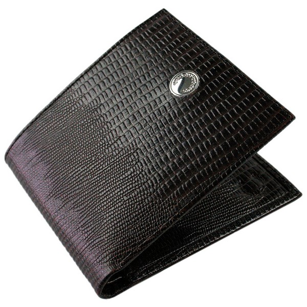 Fred Perry Black Mock Iguana Leather Billfold Wallet by product image