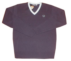Fred Perry Contrast trim school jumper Navy