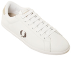 Penner White/Brown Leather Trainers