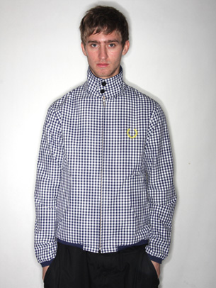 mens fashion tops fred perry peter jenson fred perry and peter jensen gingham harrington jacket. Black Bedroom Furniture Sets. Home Design Ideas