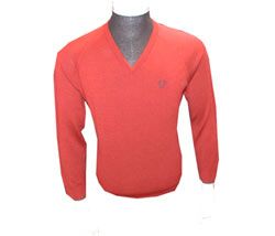 Fred Perry V-neck lambswool knit