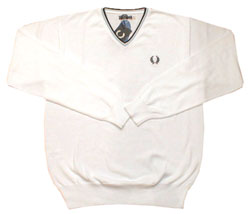 Fred Perry V-neck trim knitted sweater