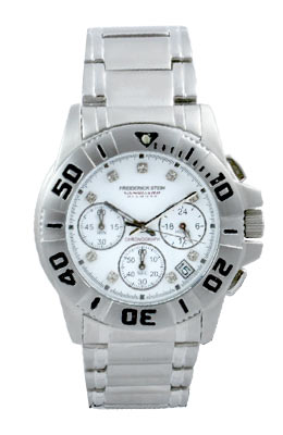 9 Stunning Diamonds inlaid into   face    Authentic Sports Style  Gents   Designer Watch    White Fi - CLICK FOR MORE INFORMATION