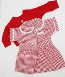 MEDIUM DOLLS SUMMER UNIFORM RED 18-20 INS DOLLS AND BEARS