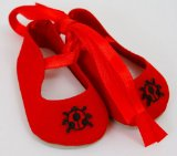 Small Dolls Ladybird Party Shoes