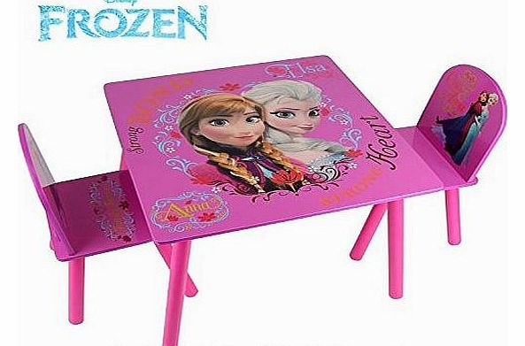 Disney Frozen Kids Pink Activity Table 2 Chairs Childrens Bedroom Furniture Set