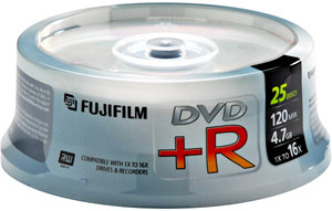 Fuji DVD-R 4.7GB - 16x Speed - Spindle of 25 Discs product image