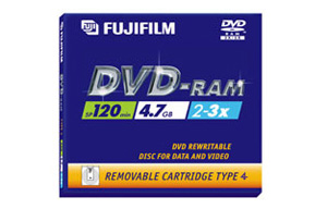DVD-RAM 4.7GB - 2-3x Speed - Type 4 Removable Cartridge - 5 Discs in Cases