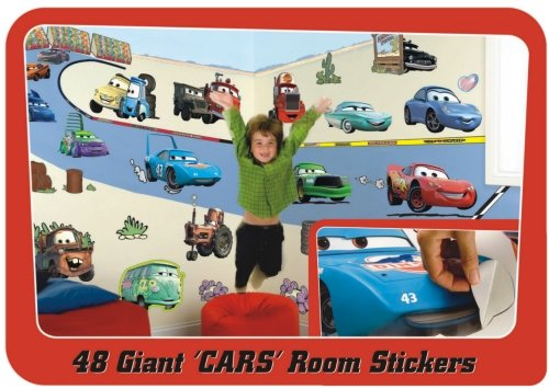 Fun to see room mural wall stickers disney pixar cars for Disney cars mural uk