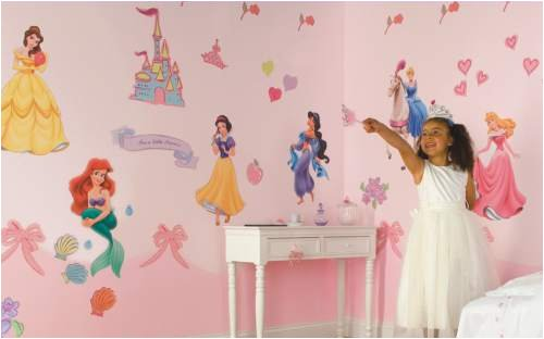 Room mural wall stickers disney princess for Disney princess mural stickers