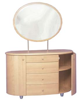 Alpha Dressing Table and Mirror