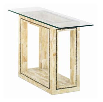 Furniture123 Athens Hall Table in Crystal Stone