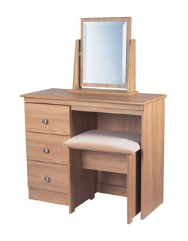 Bala Walnut 3 Drawer Dressing Table