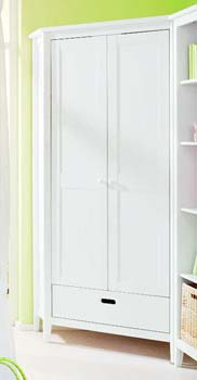 Furniture123 Cello White Corner Wardrobe product image