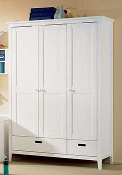 Furniture123 Cello White Large Wardrobe product image