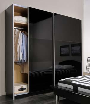 Sliding Wardrobe Door Black Gloss