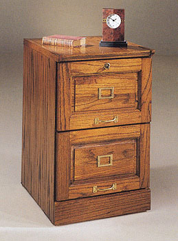 Colonial Oak 2 Drawer Filing Cabinet
