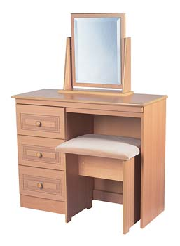 Corrib Beech 3 Drawer Dressing Table
