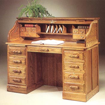 Furniture123 Country Collection Promo Roll Top Desk