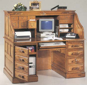 Furniture123 Country Collection Roll Top Computer Desk