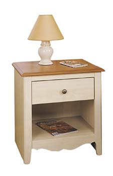 French Gardens Bedside Table in Cherry and Pine - 37424