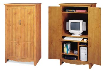 French Gardens Computer/Media Cabinet - 10414