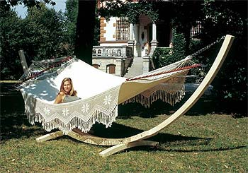 Hammocks make you happy! The number of fans of the genuine Brazilian hammock is growing steadily all over the world and it's not hard to see why. These `swings of the gods` are the perfect place to relax and watch the world go by. Unlike other  - CLICK FOR MORE INFORMATION