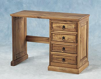 Havana Single Pedestal Dressing Table