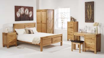 Wardrobe double with 3 drawers for Ash bedroom furniture