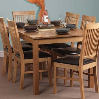 Furniture123 Hebdan Oak Rectangular Dining Table product image