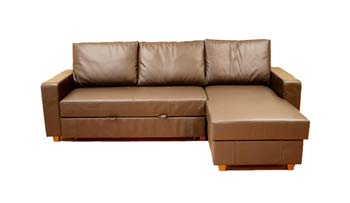 Lucy Leather Corner Sofa Bed - review, compare prices, buy online