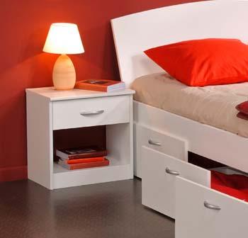 stylish white bedroom bedside table furniture design. Enileda