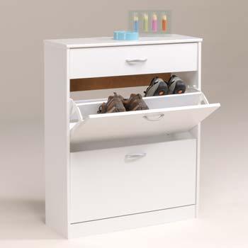Mataro Shoe Cabinet White
