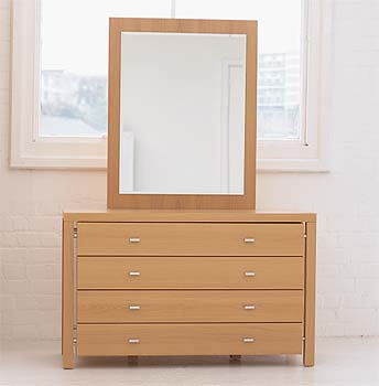 Meridian 4 Drawer Dressing Table and Mirror Set