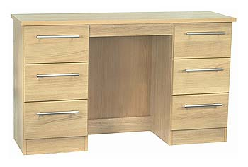 Milan Birch 6 Drawer Dressing Table