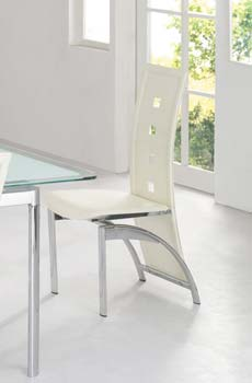 Furniture123 Morinda White Dining Chairs (pair) product image
