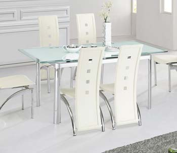 Furniture123 Morinda White Glass Extending Dining Table Review Compare Pri