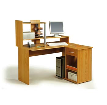 Furniture123 Movado Computer Desk in Japanese Pear Tree